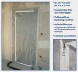Staubschutztür für staubfreie Renovierungsarbeiten
